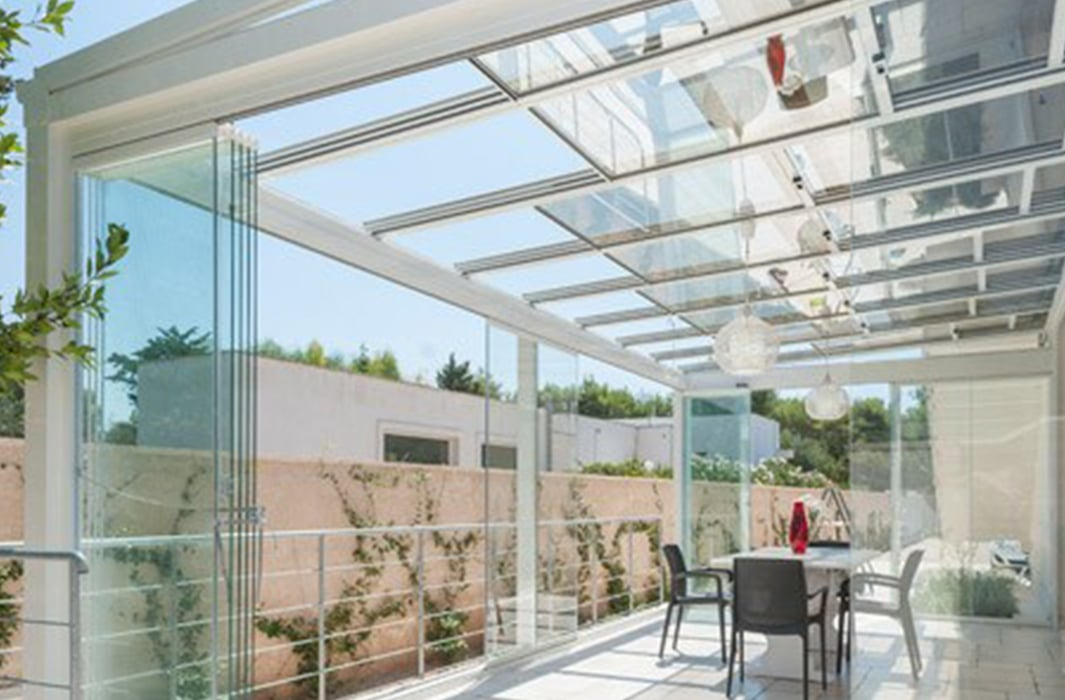 vetrate scorrevoli tutto vetro Roma